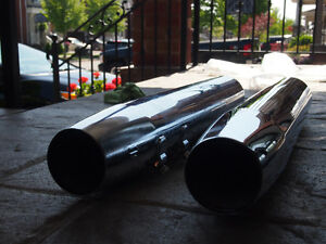 Harley Davidson Stock Exhaust Pipes from 2011 Electra Glide