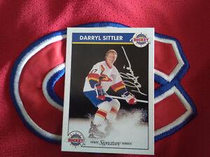 Rare zellers master of hockey Darryl sittler auto hockey card !