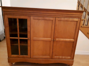 Hardwood armoire for tv or other