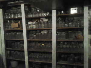 Antique Glass-topped canning Jars!