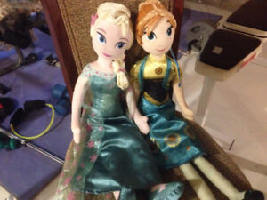 Anna and Elsa kids pillow dolls