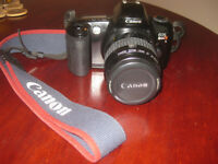 Canon EOS Rebel X 35 mm camera with Canon backpack