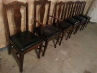 $25 ea. take all SIX DINING ROOM CHAIRS Refinished Reupholstered