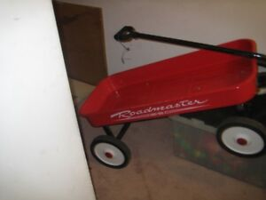 Red Metal Wagon (not plastic)