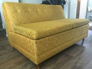 Vintage 3 piece sectional sofa bed.