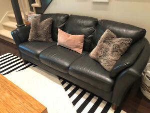 Excellent quality, genuine leather sofa and love seat
