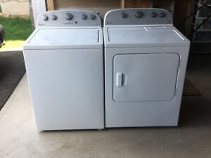 White Whirlpool Washer and Dryer- As a set