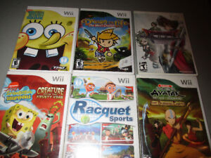 Wii games set of 6 games