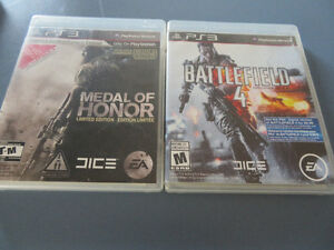 PS3 Games! Battlefield 4 & Medal of Honor $40 for both!