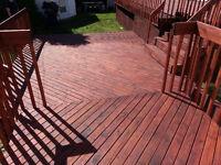 Application teinture sur patio, clôture, deck, piscine