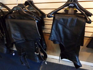 Leather Chaps-5xl-3xl-2xl and smaller   recycledgear.ca