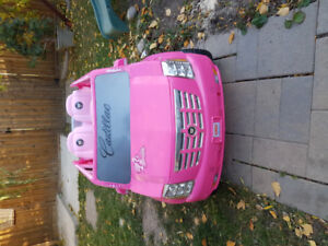 Pink Cadillac Escalade electrical kids car for 2 by FisherPice