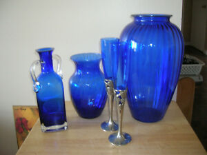 Cobalt Blue Glass Collection,New Price
