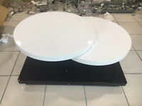 High Gloss Black & White Eclipse Motion Coffee Table