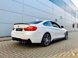 2014 64 reg BMW 435d 3.0 (313bhp ) Auto xDrive M Sport WHITE + M PERFORMANCE KIT