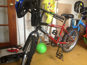 Kid's / Children's bike and helmet and bell