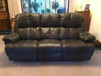 Large leather Atlantis 3600 Reclining Sofa Reduced