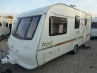 2002 elddis advante 524 with side dinette 4 berth caravan