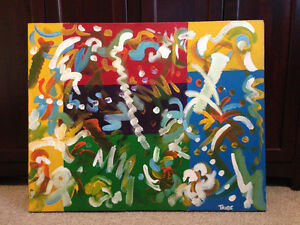 ORIGINAL modern art canvases and representation paper works London Ontario image 4