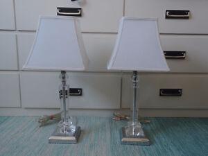 Acrylic Base Decorative Lamps with White Shade