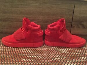Red adidas tubular size 7 (fit big)
