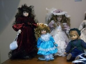 SIX (6) VINTAGE COLLECTABLE DOLLS