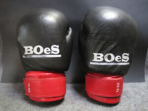 BOeS Leather Boxing Gloves 12 oz for Training/Sparring etc ~ VGC