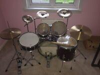 Sonix Dark Red Drum Kit