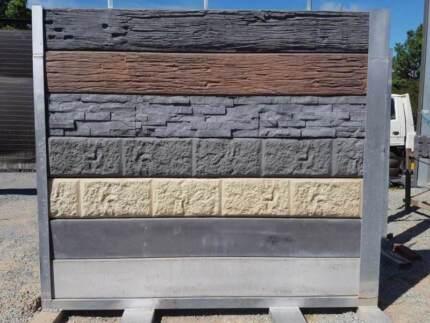Precast concrete sleeper retaining wall