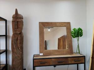 Rustic Wood Mirror - SHOWROOM SALE