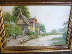 "Reginald Franklin Selfe ""The Cottage"" Original Oil Painting"