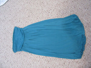Teal strapless bubble dress