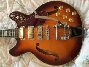 Eastwood Airline H78 semi-hollow, honey burst, Bigsby + case