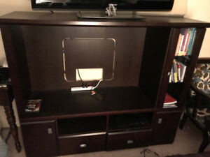 FURTHER REDUCED-ENTERTAINMENT UNIT DARK CHERRY