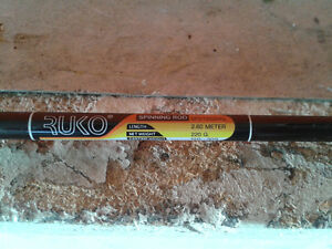 Ruko Spinning Fishing Rod for sale - 2.6m - and Fillet Knife