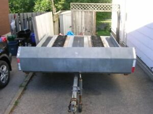 Double Tilted Snowmobile Trailer For Sale