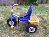 Tricycle with inflatable rubber tyres
