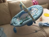 Baby blue musical bouncer mothercare