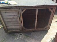 Large rabbit hutch/chicken ,duck house