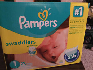 Pampers Swaddlers Size 1 Economy Pack - Unopened box