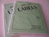 DVD / CD Blank Labels (#100) -- NEW / SEALED