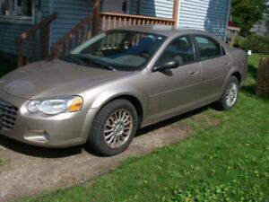 2004 Chrysler Sebring for sale AS IS; 78k on motor; body good