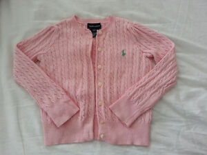 Ralph Lauren Childrenswear Girls Pink Polo Sweater - SO CUTE!