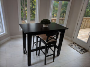 Cute Nook/Dining Table with two high chairs