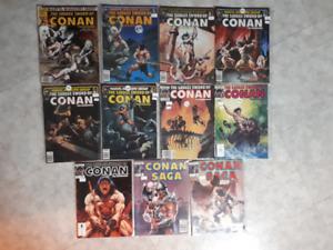 The Savage Sword of Conan Magazine lot x 11 1981-1989