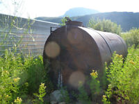 3000 gallon steel water tank