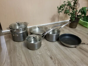 Ricardo 10-piece set stainless steel pots and pans cookware