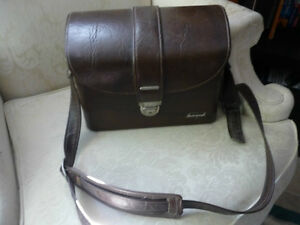 Large Leather Camera Bag with Shoulder Strap NEW PRICE!!!
