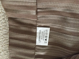 84 inch curtain side panels. Brown/Taupe in colour