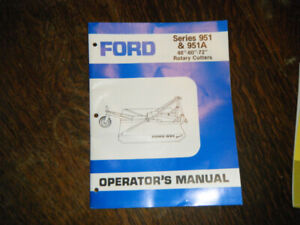 Ford 951 & 951A Rotary Cutters for Tractors  Operators Manual